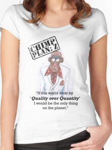 Xander - Chimp Plan: Z 'Quality Quote' Women's Fitted Scoop T-Shirt