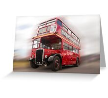 Old Red London Bus Greeting Card