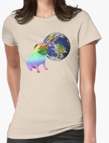 Laser-Eyes Dog - Psychedelic Womens Fitted T-Shirt
