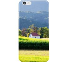 Chapel in the field, Tyrol, Austria iPhone Case/Skin