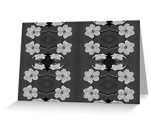 Black and White Blossom Circles Greeting Card