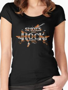 Shoes Off Rock On Women's Fitted Scoop T-Shirt