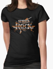 Shoes Off Rock On Womens Fitted T-Shirt