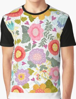 Cheerful summer pattern with flowers Graphic T-Shirt