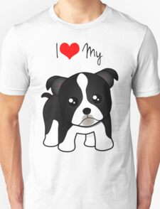 Cute Little Boston Terrier Puppy Dog Unisex T-Shirt