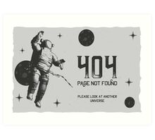404 Page not Found Design Art Print