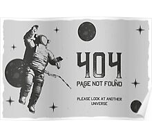 404 Page not Found Design Poster