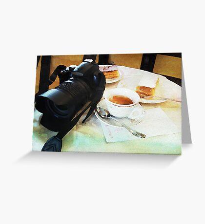 Photographers break in watercolor Greeting Card