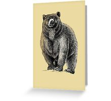 The Great Bear - A fierce protector Greeting Card