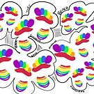 Rainbow Summertime Footprints by Clare Colins
