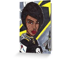 Space Fighter Pilot Greeting Card