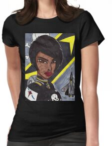 Space Fighter Pilot Womens Fitted T-Shirt