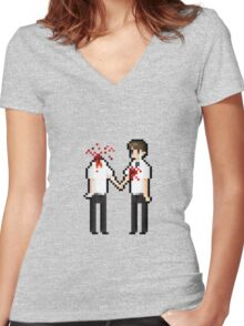 in the end Women's Fitted V-Neck T-Shirt