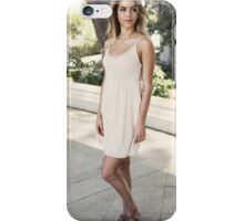 Blonde cute girl fashion look iPhone Case/Skin