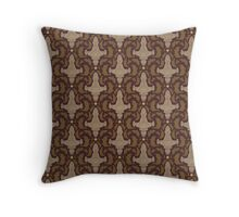 Leaf on the Wind Damask Throw Pillow