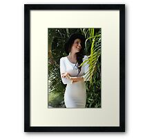 Beautiful  girl portrait outdoor Framed Print