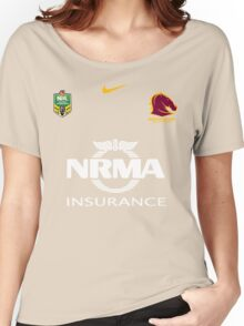 NRL BRONCOS BRISBANE Women's Relaxed Fit T-Shirt