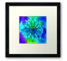 Blue and Green Mandala Framed Print
