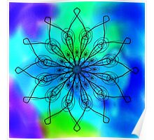 Blue and Green Mandala Poster
