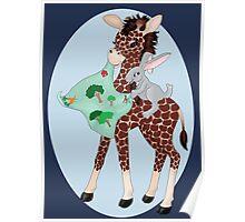 Giraffe Friends Go Place Poster