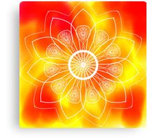 Red and Orange Mandala Canvas Print