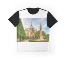 Notre Dame & The Manicured Trees Graphic T-Shirt