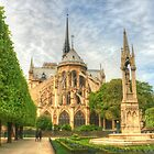 Notre Dame & The Manicured Trees by Michael Matthews