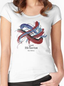 Clan McTavish - Prefer your gift on Black/White, let us know at info@tangledtartan.com Women's Fitted Scoop T-Shirt