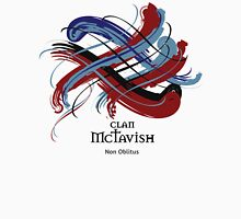 Clan McTavish - Prefer your gift on Black/White, let us know at info@tangledtartan.com Unisex T-Shirt