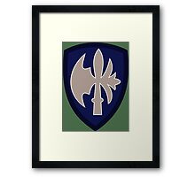 65th Infantry Division 'Battle-axe' (United States - Historical) Framed Print