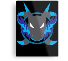 Mega Charizard X Icon Metal Print