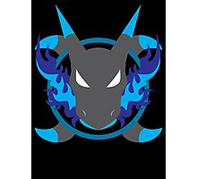 Mega Charizard X Icon Photographic Print