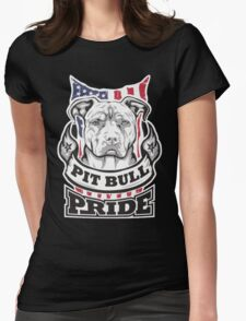 PIT BULL PRIDE Womens Fitted T-Shirt