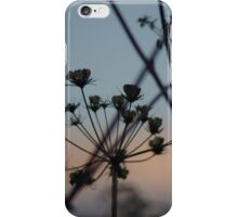 dusky sunset plants iPhone Case/Skin
