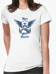 Mystic Team Blue Pokeball Womens Fitted T-Shirt