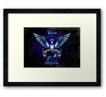 Mystic Team Blue Pokeball Framed Print