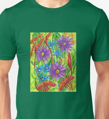 Flowers by the River Thames Unisex T-Shirt