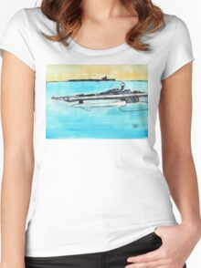 Hydrofoil Frigate Cyclone Taskforce 65 Women's Fitted Scoop T-Shirt