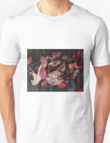 Collage Of Red Unisex T-Shirt