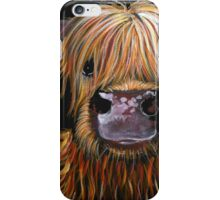 SCOTTISH HAIRY HIGHLAND COW 'HENRY' By Shirley MacArthur iPhone Case/Skin
