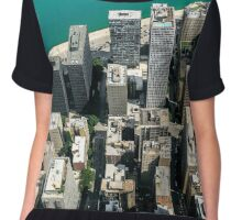 Chicago from above Chiffon Top