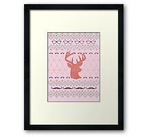 Ugly Hipster Sweater Framed Print