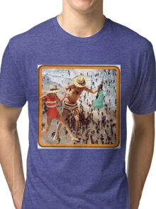 A Day at the Seaside'   Tri-blend T-Shirt