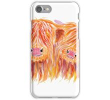 HIGHLAND COWS 'BUDDIES' By Shirley MacArthur iPhone Case/Skin