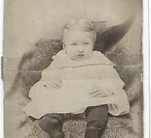 My grandmother at 3 years old 1888....... by DonnaMoore