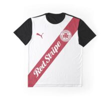 Cliftonville Red Stripe Fans' Jersey Graphic T-Shirt