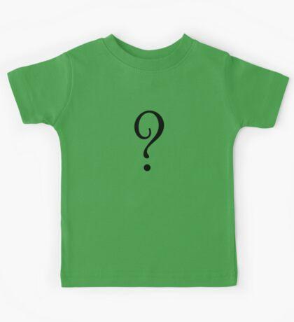 Riddle T-Shirt - Question Mark Sticker Kids Tee