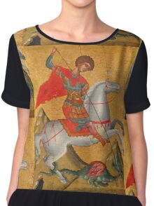 St George and the Dragon Chiffon Top