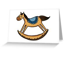 Rocking horse Greeting Card