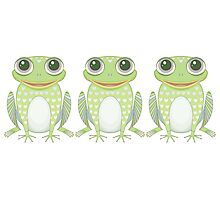 Happy Triplet Frogs Photographic Print